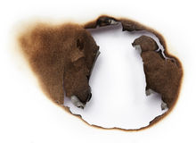 Burnt hole of paper Stock Photography