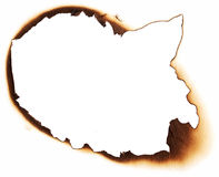 Burnt hole of paper Royalty Free Stock Image