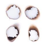 Burnt hole Stock Photo