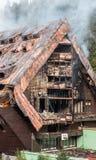 Burnt hotel Junior, Slovakia Royalty Free Stock Photo