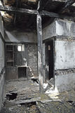 Burnt House Stock Photo