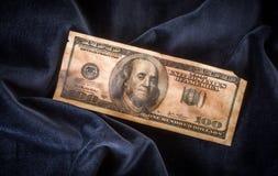 Burnt hundred-dollar bill Stock Image