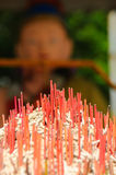Burnt Incense Sticks Royalty Free Stock Images