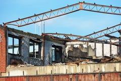 Burnt industrial building Stock Image