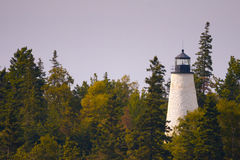 Dice Head Light - Dyce Head. Dice Head Lighthouse located on east side of the mouth of the Penobscot River in Castine, Maine Stock Photo
