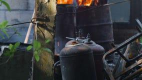 Burnt LPG bottles