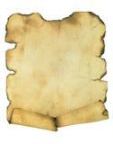 Burnt manuscript Royalty Free Stock Photos