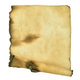 Burnt manuscript Royalty Free Stock Images