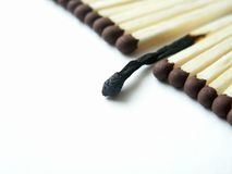 Burnt match Stock Photography