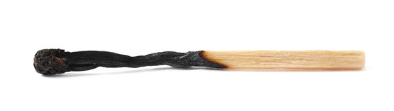Burnt match stick isolated Stock Images