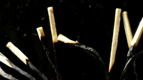 Burnt matches on the ground Royalty Free Stock Photo