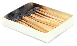 Burnt matchsticks Royalty Free Stock Images