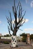 Burnt memorial tree on Pawiak in Warsaw. Stock Images