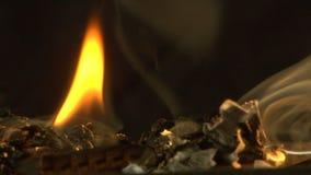 Burnt 8mm film stock video footage