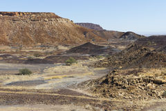 The Burnt Mountain, in Damaraland, Namibia. Stock Images