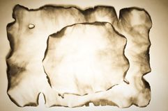 Burnt Old Paper Royalty Free Stock Image