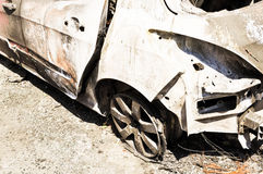 Burnt out car Royalty Free Stock Photos