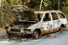 Burnt-out car Royalty Free Stock Photography