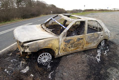 Burnt out car Royalty Free Stock Photography