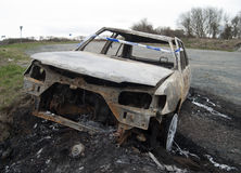 Burnt out car. Stock Photography