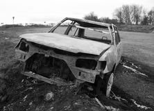 Burnt out car. Royalty Free Stock Image