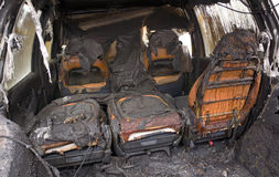 Burnt Out Car Interior Stock Photos