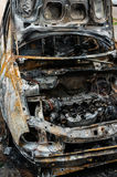 Burnt-out car Royalty Free Stock Photos