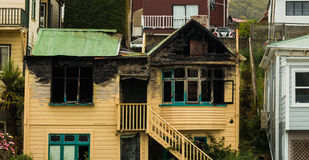 Burnt Out House Royalty Free Stock Photo