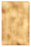 The burnt out paper. Sheet of the old paper which has turned yellow from time. The photo is isolated and placed on a white background. The picture is convenient Royalty Free Stock Image