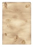 The burnt out paper 4. Sheet of the old paper which has turned yellow from time. The photo is isolated and placed on a white background. The picture is Royalty Free Stock Image