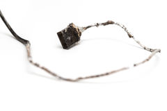 Burnt out usb cable Royalty Free Stock Photo