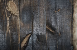 Burnt out wooden plans Stock Photo