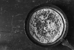 Burnt pancake Stock Photography