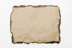 Burnt paper Royalty Free Stock Photography