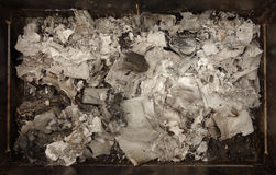 Burnt paper ashes Stock Photography