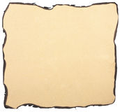 Burnt paper background isolated Stock Photography