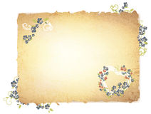 Burnt paper with flowers stock illustration
