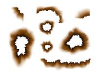 Burnt paper hole. Scorched paper holes vector illustration transparent. Burnt edges grunge texture.  vector illustration