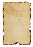 Burnt paper Stock Image