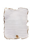 Burnt paper line Royalty Free Stock Images
