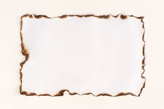 Burnt paper sheet Royalty Free Stock Photography