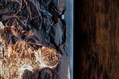 Burnt papier w piekarniku Zdjęcia Stock