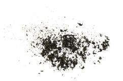 Burnt papierowa popiół tekstura obraz stock