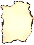 Burnt parchment. A textured parchment with burnt edges Royalty Free Illustration