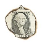 Burnt portrait of Washington. Stock Images