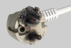 Burnt power plug Stock Images