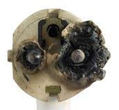Burnt power plug Royalty Free Stock Images