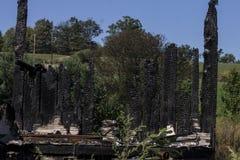 Burnt puszka dom Fotografia Royalty Free