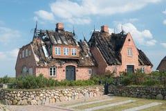 Burnt puszka dom Zdjęcia Stock