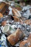 Burnt puszki Zdjęcie Stock